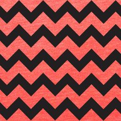 Black Chevron on Heather Coral Cotton Jersey Blend Knit Fabric :: $7.00