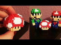3D mini Perler Bead Mushroom! - YouTube