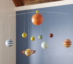 Planet Mobile. Theme for the sensory room. With a theme, it's easier for me to find stuff that's more cohesive.