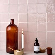 Fresh and delicate, this cherry blossom pink tile is part of our Halcyon collection and features our rustic, hand made artisan biscuit. Each piece is crafted using traditional techniques, resulting in an organic finish, rich with character and natural imperfections. Kitchen Arrangement, Wet Rooms, Bathroom Inspiration, Wet Room Flooring, Girl House, Interior Design Courses, Secret Rooms, House Interior, Pink Tiles