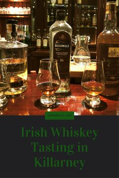 Learning all about Irish Whiskey at a tasting at the Malton Hotel in Killarney, Ireland