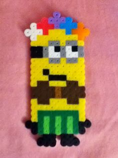 Hawaiian Perler Bead Despicable Me Minion by RainbowMoonShop