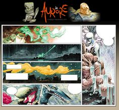"""Pages, panels and some storyboards from my comic book """"Aurore"""", Soleil Ed. (France)"""