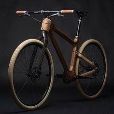 木製デザイン程、魅力的な自転車はありませんね。