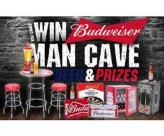 Win $1,000 worth of Budweiser Merchandise for at Man Cave - http://freebiefresh.com/win-1000-worth-of-budweiser-merchandise-for-at-man-cave/