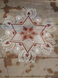 Lotus Rangoli, Indian Rangoli, Kolam Rangoli, Flower Rangoli, Simple Rangoli, Beautiful Rangoli Designs, Kolam Designs, Festival Decorations, Flower Decorations