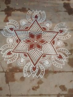 Lotus Rangoli, Indian Rangoli, Kolam Rangoli, Flower Rangoli, Beautiful Rangoli Designs, Kolam Designs, Festival Decorations, Flower Decorations, Alpona Design