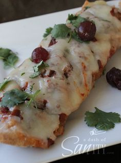 Cran-Chicken Enchiladas Recipe ~ Says: whether you do chicken or turkey, try out this healthier, yummier enchilada. You won't be disappointed.