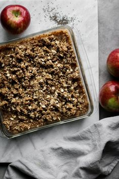 Apple Crumble Bars - Best of Vegan