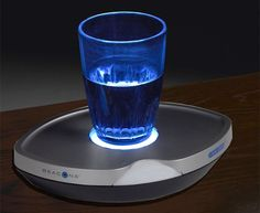 Motion Sensing Nite Coaster Will Illuminate Your Bedside Beverage ~ I need this!