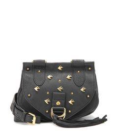 Collins Small black embellished leather shoulder bag