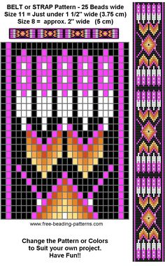 free-beading-pattern-regalia-belt-purple