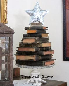What a lovely Christmas book tree ! You really need to do one in ...