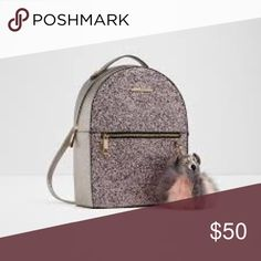 """2d9cdc6247a Aldo glitter backpack 11"""" W 14"""" H 5"""" D Backpack with glitter detailing"""