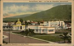 "Card from the #Haiti 1949 ""Exposition Internationale du Bicentenaire de Port-au-Prince"" expo #Expostory #Expo2015"