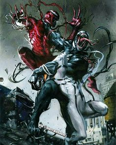 Secret Wars variant cover - Venom, Anti-Venom, and Carnage by Gabriele… Marvel Venom, Marvel Villains, Marvel Vs, Marvel Characters, Marvel Heroes, Toxin Marvel, Storm Marvel, Captain Marvel, Comics Anime
