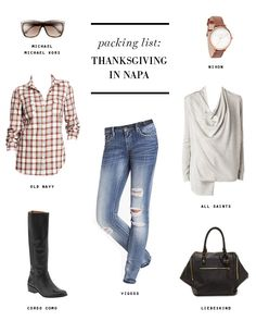 PACKING LIST Thanksgiving in Napa