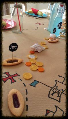 Déco table pour anniversaire pirate