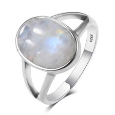New Vintage Fine Jewelry Hollow Out Big Natural Rainbow Moonstone Rings 925 Sterling Silver For Women Anniversary Gifts Silver Rings Handmade, Silver Gifts, Sterling Silver Jewelry, 925 Silver, Engagement Ring Sizes, Wedding Engagement, Rainbow Moonstone Ring, Rings For Girls, Blue Rings