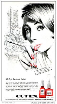 Original-Werbung/Inserat/ Anzeige 1960 - CUTEX NAGELLACK - ca. 320 x 170 mm