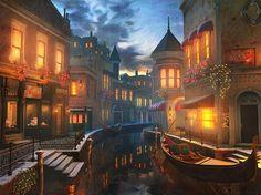Enchanted Waters Painting  - Enchanted Waters Fine Art Print - Joel Payne