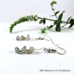 Simple silver earrings labradorite jewelry by DSNatureetCreation https://www.etsy.com/listing/244507007/simple-silver-earrings-labradorite