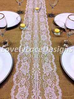 WEDDING DECOR/White Lace Table Runner, 5ft-10ft x 8in Wide, Wedding Decor, Lace Table Overlay/Tabletop Decor/Summer finds/Etsy trends by LovelyLaceDesigns on Etsy
