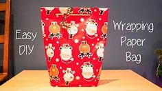 Super easy wrapping paper bag tutorial!