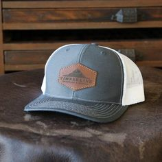 19b937f9f6d Custom Leather Patch Hat with YOUR LOGO - Customized. Richardson ...