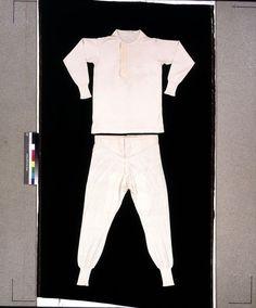 1880-1900 machine knit silk underwear T.168-1960 V&A