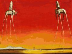 "Salvador Dali, ""The Elephants"" (1944)"