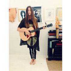 Jamming with the Lovely and Talented @briannafalcone #parkerblue #parkerbluecashmere #ss15 #songbird