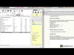 Video tutorial on how to create a nutrition facts label from a recipe.