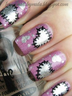 valentine nail art | Cute Valentines day nails. | Nail Art