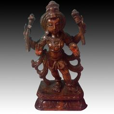 "#Vishnu, whose name means ""All-Pervading,"" is the protector of the world and the restorer of moral order. He is peaceful, merciful, and compassionate.  #Vishnu is the Supreme Lord.  Order Now!!! http://www.tagoresculpture.com/product.php?cat=7&pro=30"