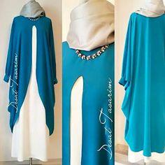 Islamic Fashion, Muslim Fashion, Modest Fashion, Fashion Outfits, Hijab Style Dress, Hijab Outfit, Modest Dresses, Modest Outfits, Modele Hijab