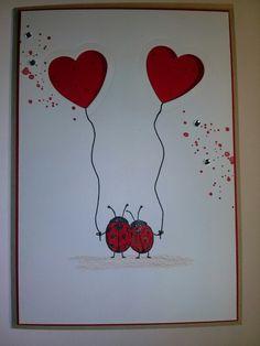 Stampin Up, Love you lots, Karte, Valentinstag, Hochzeit, Liebe, Mirjams-Stempelecke