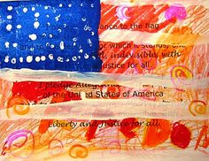 Jasper Johns inspired - has Pledge of Allegiance underneath....but thinking about trying this with VOTE underneath.