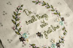 small things embroidery by nanaCompany, via Flickr   Free pattern to download.