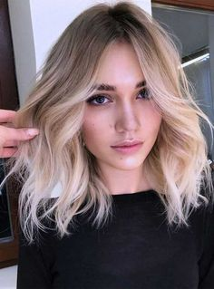 """Hair color isn't always about just """"color"""". It's about shades, hues, and a good cut that will show off your new color. Perfect color doesn't come in a bottle. Blonde Ombre Short Hair, Beige Blonde Hair, Balayage Straight Hair, Short Balayage, Blonde Hair Looks, Blonde Hair With Highlights, Long Vs Short Hair, Brown Balayage, Ombre Hair"""