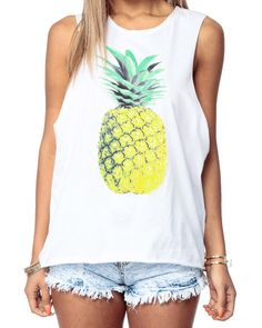 e647e809a30bf Buy Pineapple Print Tank with discount price and high quality from Cicihot  Top Shirt Clothing online store which also sales Dress Shirt