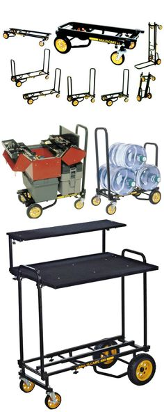 The RockNRoller Multi-Cart Micro is a 160kg capacity, compact, collapsible 8-in-1 hand truck with folding double handles and an extendable bed frame.