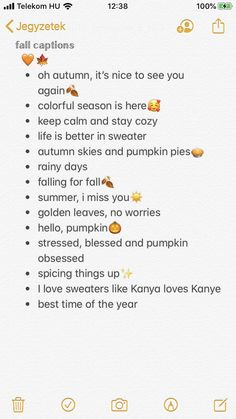 *Kanye fall captions \\ autumn captions // captions \\ captions for insta // captions inspo \\ fall // autumn \\ quotes Fall Insta Captions, Insta Captions For Selfies, Instagram Captions For Friends, Cute Captions, Picture Captions, Instagram Picture Quotes, Instagram Bio Quotes, Instagram Feed, Noms Snapchat