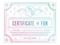 Certificate of Fun