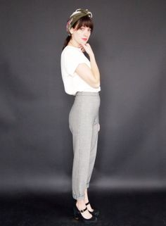 Houndstooth Stretch Trouser by SturnelleCollection on Etsy