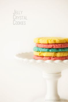 Jelly crystal cookies GF Sweet Style, Jelly Crystals, Recipe Of The Day, Style Blog, Sorbet, Biscuits, Ice Cream, Gluten Free, Cookies