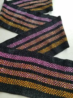 Chenille Point Twill Scarf https://www.etsy.com/listing/552969301/chenille-scarf-black-pink-and-orange