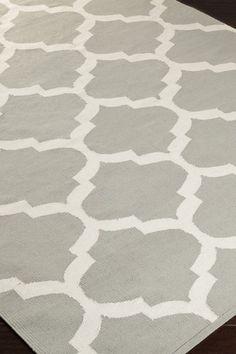 Artistic Weavers Trellis Pattern Cotton Rug - Grey by Surya on @HauteLook