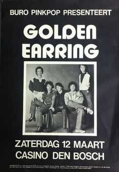 Anonymous - Golden Earring - - W. - Anonymous – Golden Earring – – W. Pop Posters, Band Posters, Concert Posters, Golden Earrings, Personal Logo, Graphic Design Posters, Anonymous, Music Artists, Peace And Love