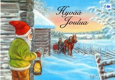 Hyvää Joulua … Merry Christmas … What's a Finnish Christmas card without a Finnish horse! ... Sent by relatives in Finland